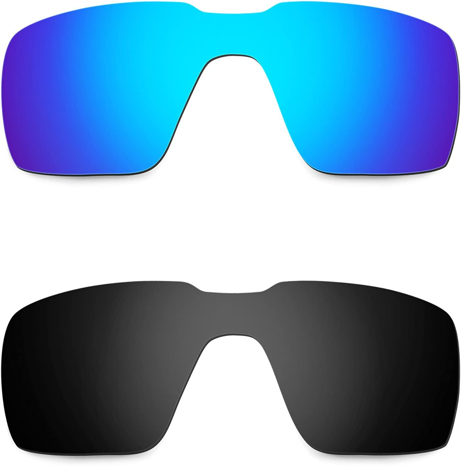 Hkuco Mens Replacement Lenses For Probation Sunglasses Blue/Black Polarized  at Amazon Men's Clothing store