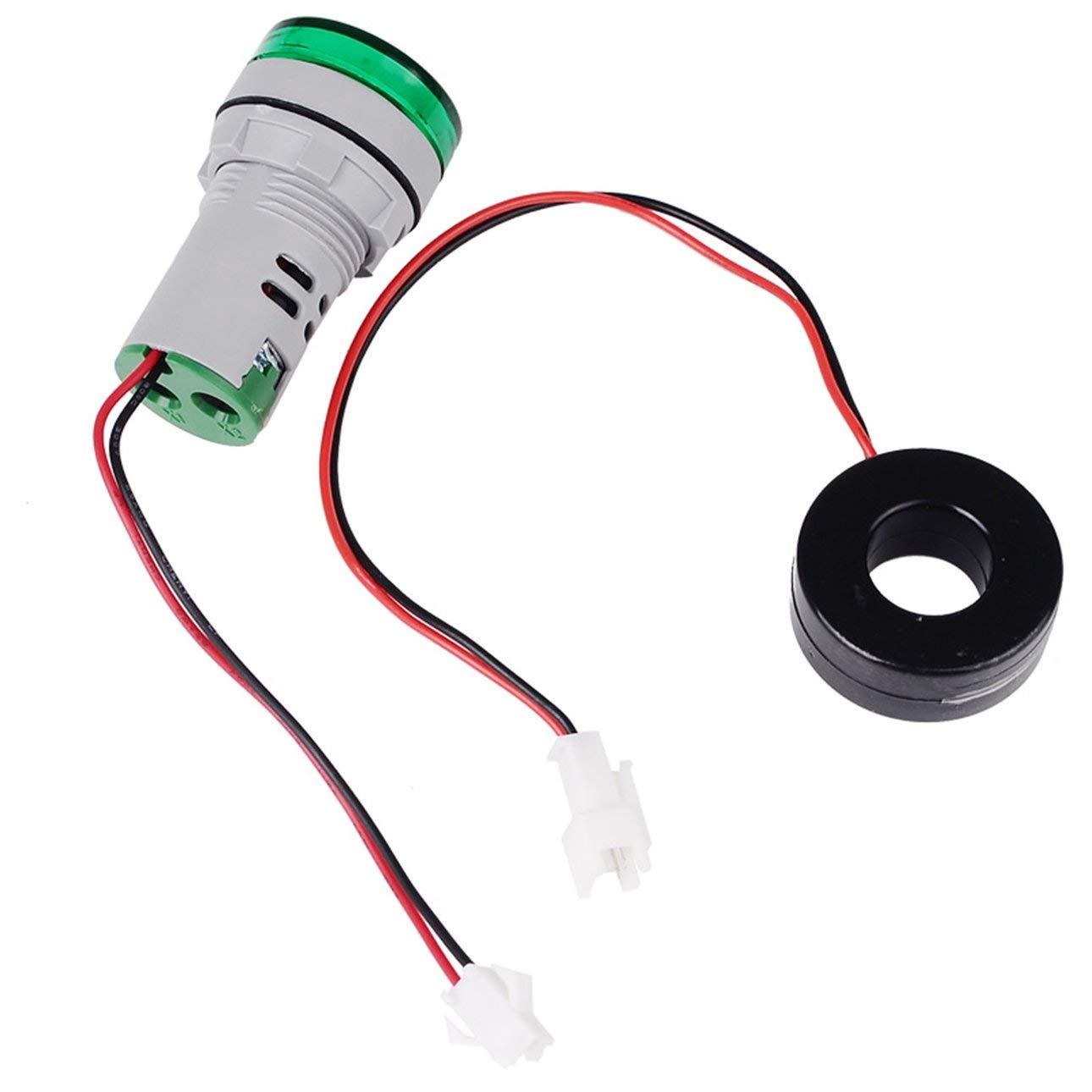 Pudincoco SINOTIMER 22mm Ronde LED Diaplay 0-100A AC Indicateur de Courant Voyant Lumi/ère Signal Lumi/ère Amp/èrem/ètre Testeur Amperm/ètre Moniteur