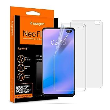 spigen, 2 Pack, Protector Pantalla Samsung Galaxy s10 Plus ...