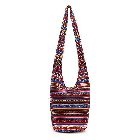 4382fc58c tandou Mujeres hippie hombro bolsillos Fringe grandes Cartera étnico ...