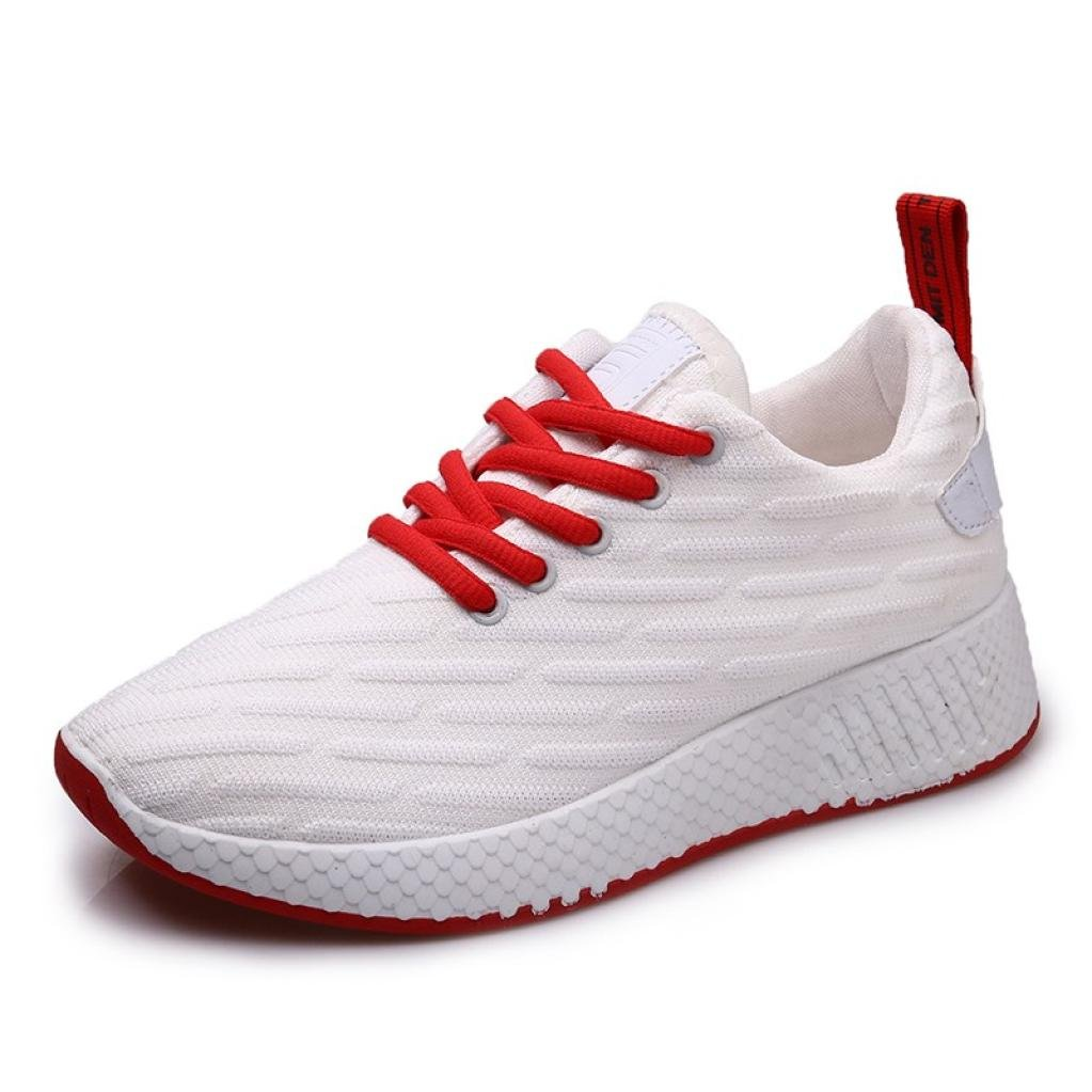 Aurorax-Shoes Clearance Sale Women's Girls Mesh Lightweight Breathable Casual Wedges Sneakers (Lace up White, US:7)