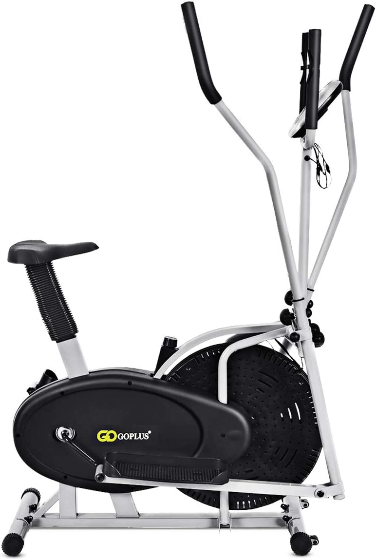 Goplus 2 In 1 Elliptical Fan Bike