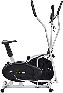 Goplus 2 en 1 Elíptica Bicicleta Ventilador, Entrenamiento ...