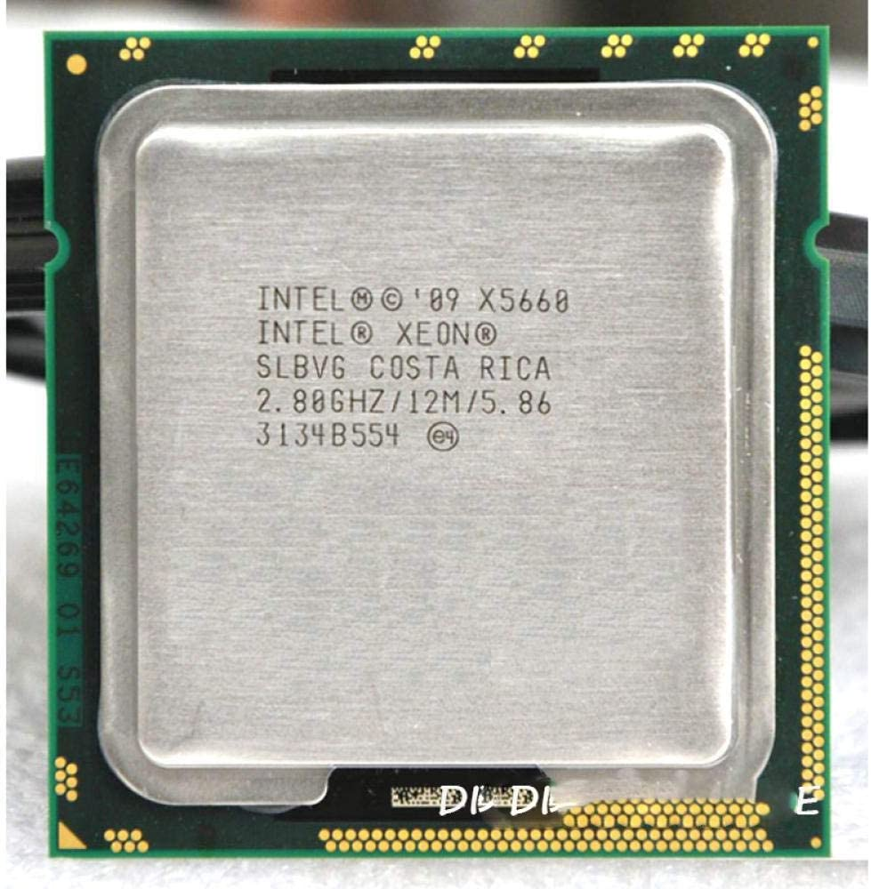 Intel XONE X5660 Six Core 2.8 MHZ LeveL2 12M 6 Core Work for Lga 1366 Montherboard