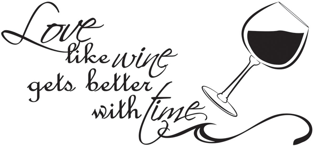 Charmant Amazon.com: Love Like Wine Gets Better With Time Couples Vinyl Wall Decal  Quotes Wall Stickers Love Decals Home Decor Decals: Home U0026 Kitchen