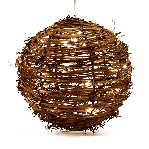 "Bingomotoko LED Pendant Lamp Christmas Decor, Ambient Mood Lighting Night Globe, Romantic Lantern Wedding, Holiday, Patio, Outdoor (Warm White), Battery Operated (6"") by Bingomotoko"