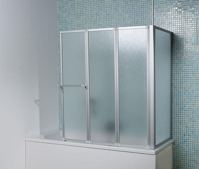 Dusar – Mampara plegable BTT 360 ° Plata – Mampara para bañera plegable pared: Amazon.es: Bricolaje y herramientas