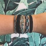 Pura Vida Solid Black Bracelet - Iron-Coated Copper
