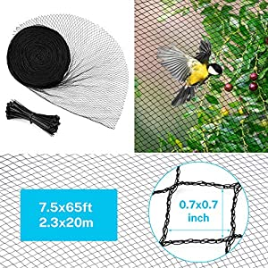 Sunkorto 25×50 FT Bird Netting, Reusable Garden Net Protects Plants and Fruit Trees, Pond Net Garden Protection Against…