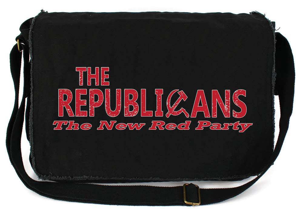 Tenacitee The Republicans The New Red Party Khaki Green Raw Edge Canvas Messenger Bag