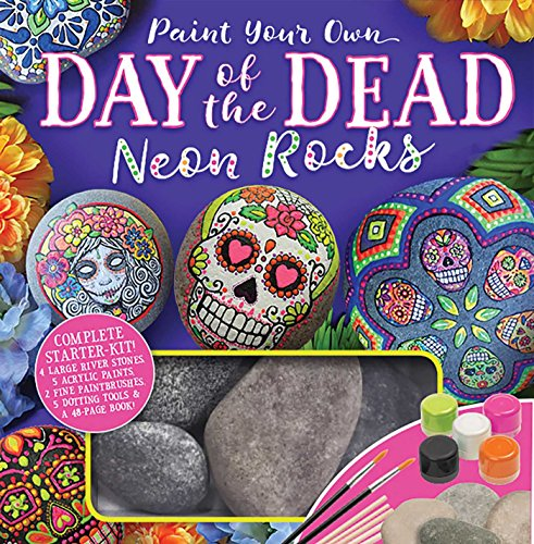 Paint Your Own Day of the Dead Neon Rocks ()
