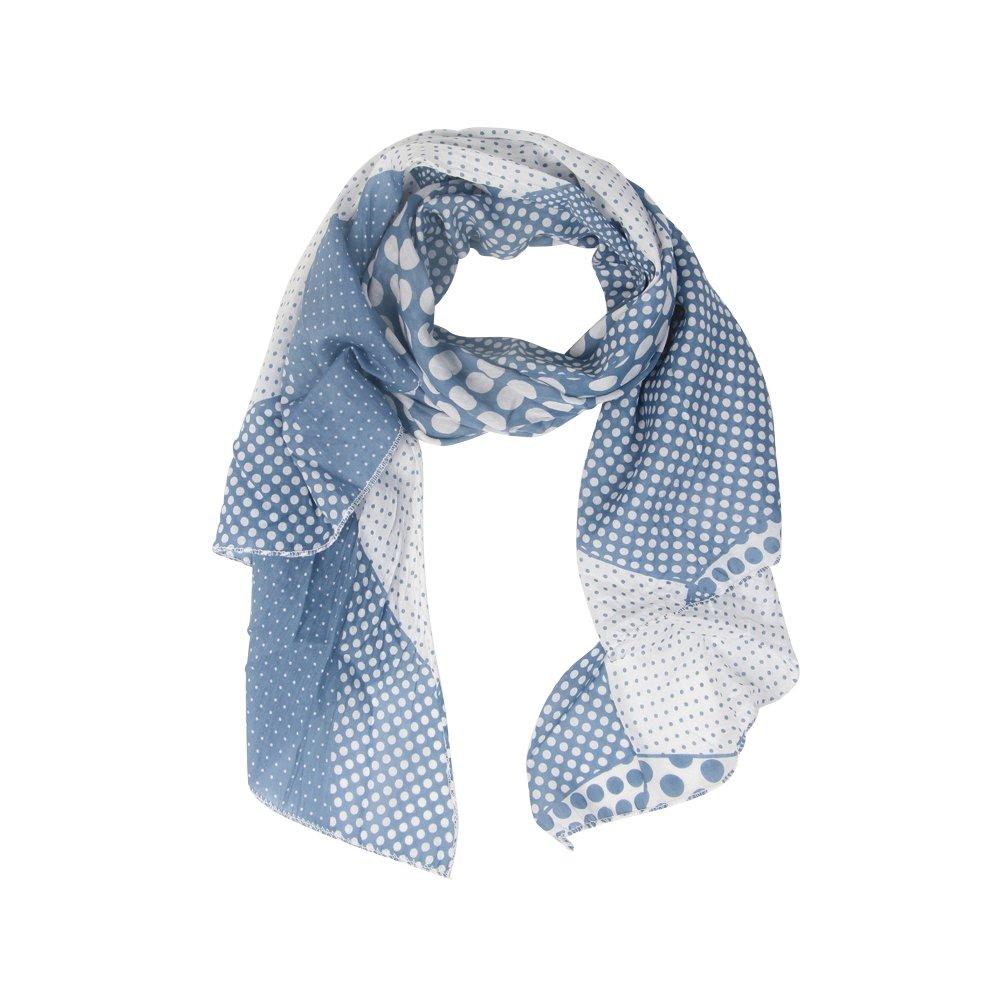 42f6393124f0e Zwillingsherz Seiden-Tuch Damen stylisches Muster - Made in Italy -  Eleganter Sommer-schal ...