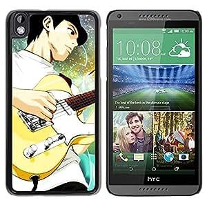 Be Good Phone Accessory // Dura Cáscara cubierta Protectora Caso Carcasa Funda de Protección para HTC DESIRE 816 // Guitar