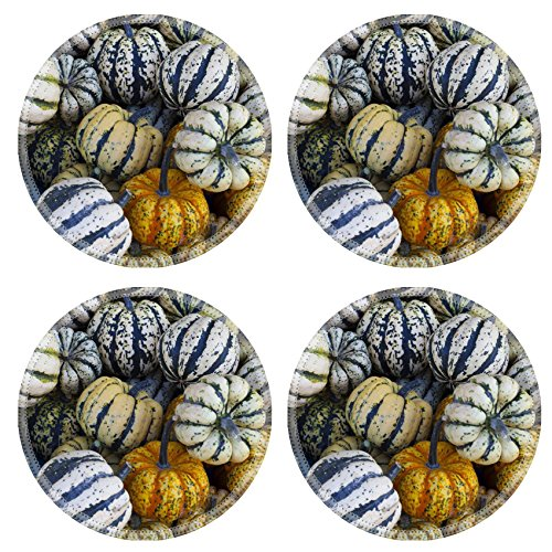 Luxlady Natural Rubber Round Coasters IMAGE ID: 26930041 ...