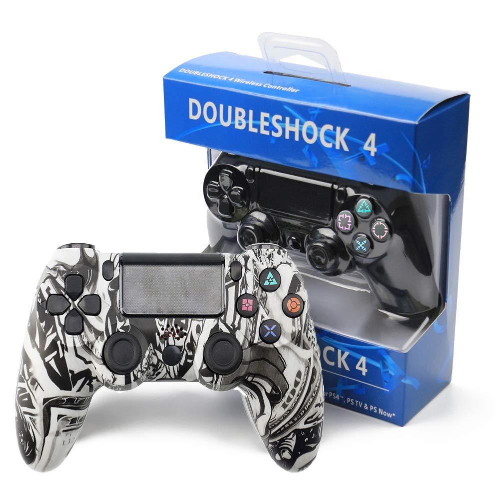 RQINW Controlador de Juegos inalámbrico Bluetooth Gamepad, Carga USB, vibración, Controlador de Juegos aplicable para PS4