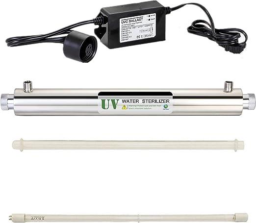 HJJGRASS 10GPM 40W UV Purificador de Agua Filtro de esterilizador ...