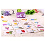 (Articles in daily life) - Baby Infant 32pcs Flash Card Jigsaw cognition puzzle Shape Matching Cognitive Learning Early Education Card Toys (Articles in daily life)