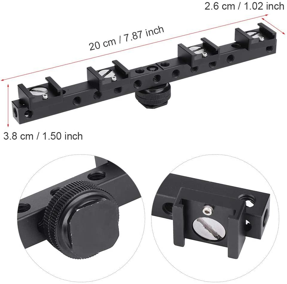 Vbestlife Support de Camera Mount Extension Plate Camera Cold Shoe Extension Plate Mount Bracket Support Accessory Kit.