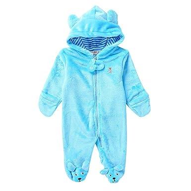 59952d2d13 Baby Bär Stil Strampler,Hankyky Baby Mädchen Junge Spielanzug Flanell  Baumwolle Winter Overall Tier Kostüme
