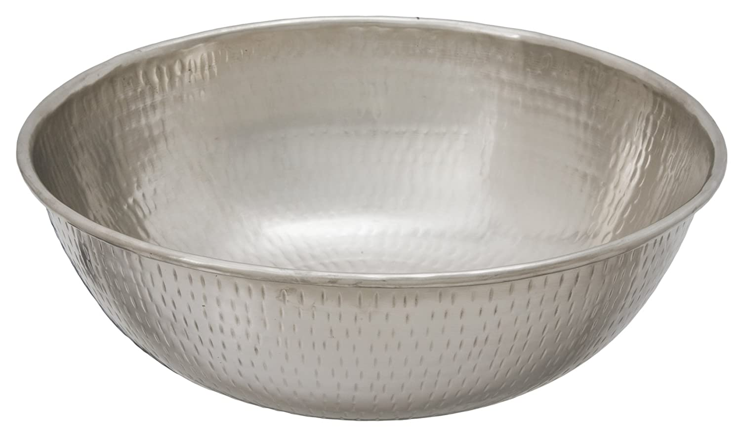 Sinkology SB301-14N Bohr Hammered Nickel Vessel Bath Sink, 14