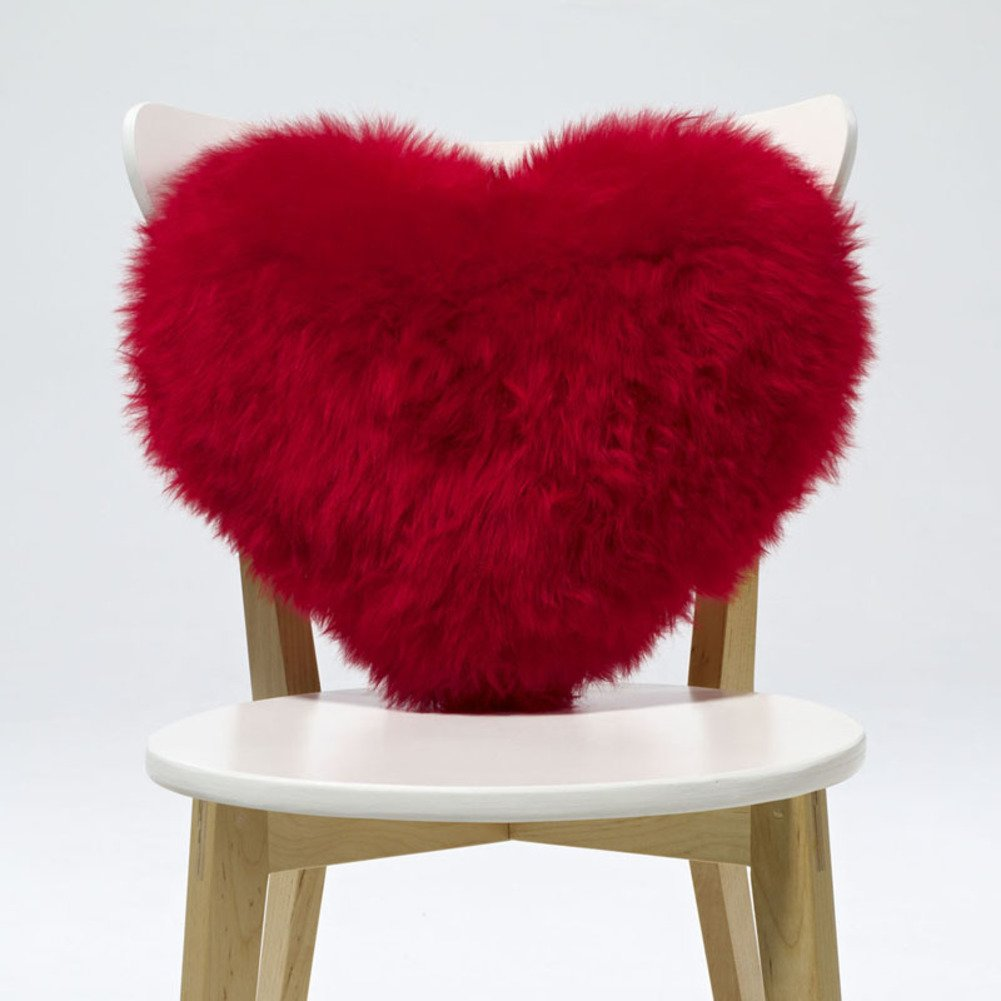 Love seat cushioning,Pillow Back cushion Core Valentine's day Shaggy Luxurious Christmas day Send to your girl friend-red 40x33cm(16x13inch)
