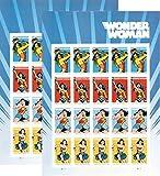 USPS 2016 Wonder Woman Set of 2 Sheet of 20 Forever Stamps .