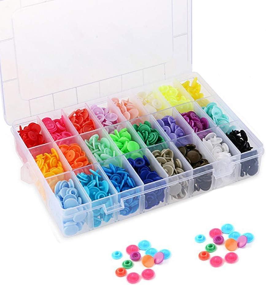 SUNTATOP 360 Set Resin T5 Botones de Plástico Botón de Presión de Resina DIY 24 Colores