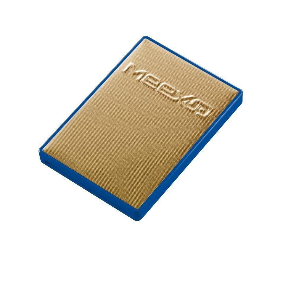 Etui 2 Cartes MeexUp RFID - Porte Carte Rigide anti piratage CB - Or et Bleu 10222