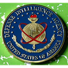 US Defense Intelligence Agency Military Colorized Challenge Art Coin