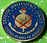 """Beautiful US Defense Intelligence Agency military colorized gold plated challenge art coin. This item makes a great collectible or gift. Each piece is enclosed in acrylic protective case. Approximately 1 ounce, 1.6"""" diameter. Coins are printed or pai..."""