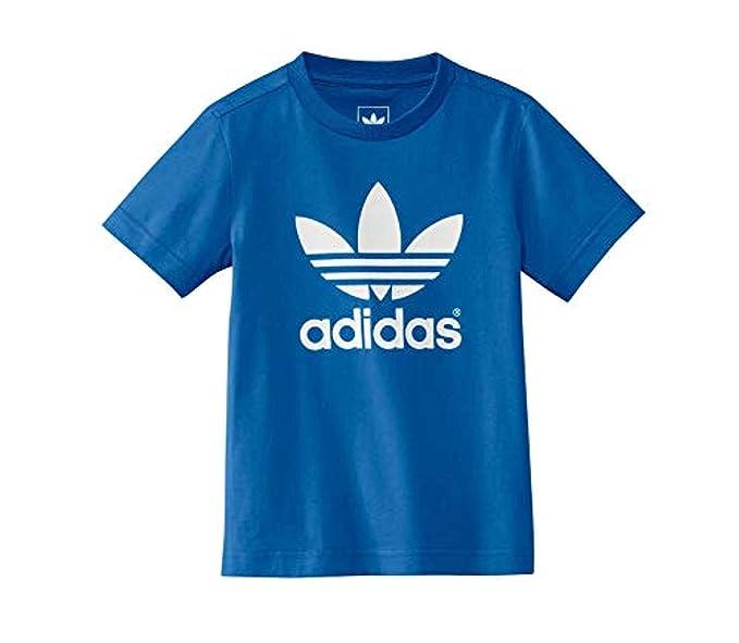 adidas Niño LK Trefoil tee Camiseta BLU, 5-6 ANS: Amazon.es: Ropa y accesorios