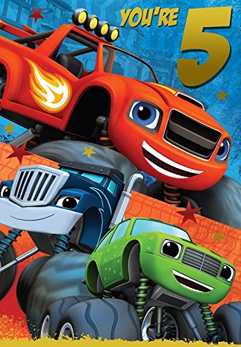 5th Birthday Card (Blaze And The Monster Machines 5th Birthday Card)