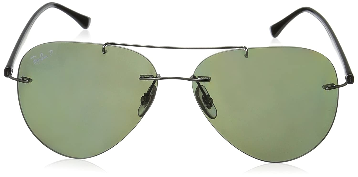 4c13f8f3342af Ray-Ban Polarized Aviator Men s Sunglasses - (0RB8058004 9A59