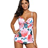 175ccdd353acb Women Two Piece Swimwear Plus Size Tankini Sets With Boy Shorts Bathing  Suits…