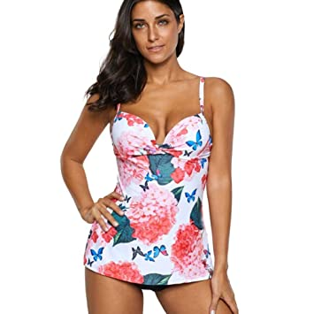 522c12ccbd Women Two Piece Swimwear Plus Size Tankini Sets With Boy Shorts Bathing  Suits Bikini Set Summer