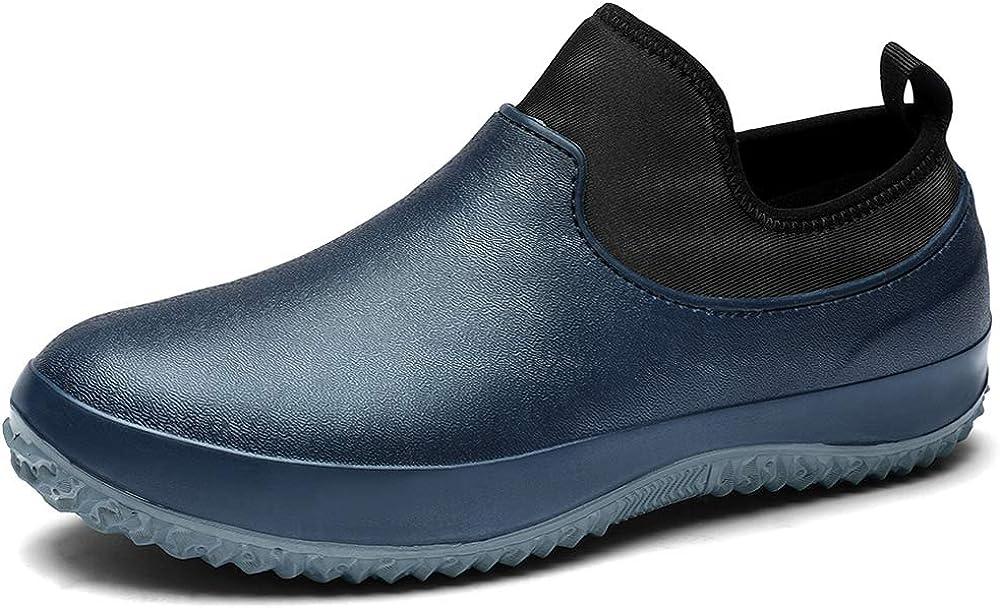 TENGTA Men's Waterproof Gardening Rain Shoes for Women Lightweight Garden Boots