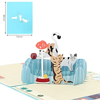Lhuaguo (1set) artigianato 3D greeting card–Cometgreeting carta e carta dell' invito