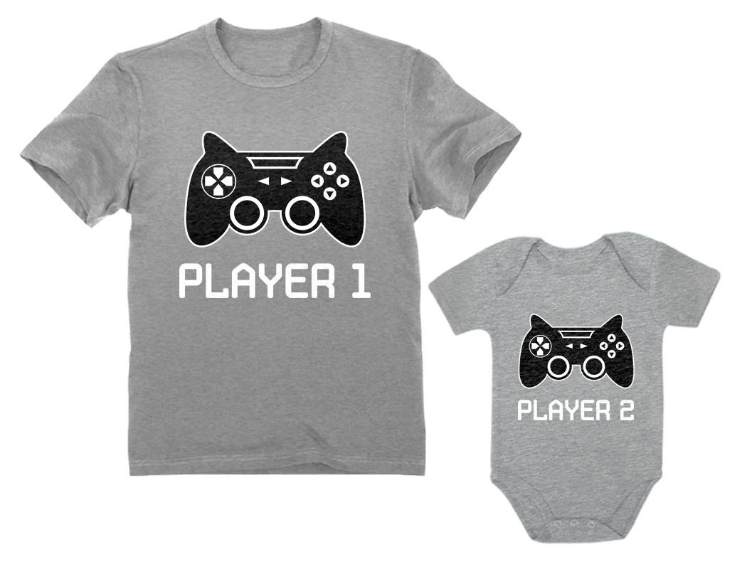 Gamer Shirts for Father & Son/Daughter Player 1