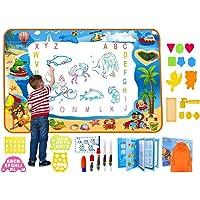 لوحة الرسم المائية السحرية ترقية كاملة مع مساحة رسم كبيرة جدًا وكتابة ألوان مائية وهدية لعيد الميلاد، ألعاب تعليمية…