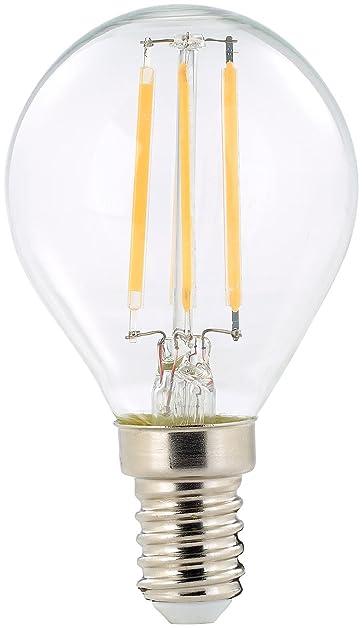 Luminea LED Glühbirne: LED Filament Tropfen, G45, E14, 470 Lm