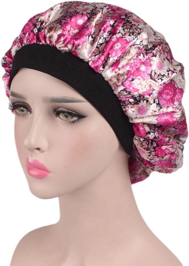 256A HuaYang Femmes imprim/é floral Bonnet Chapeau Bonnet De Sommeil Nuit Coiffure de Soin Cheveux