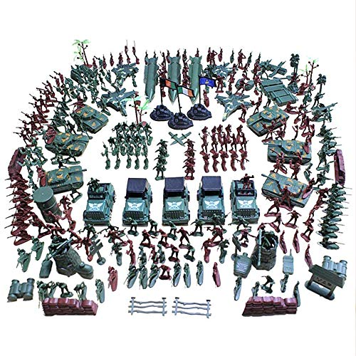 MCpinky 307 PCS World War II Army Men,War Soldiers with Hand Bag,Toy Soldiers Set,Gift for Kids