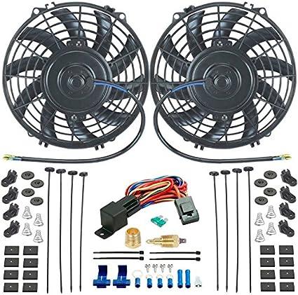 American V Dual 9 pulgadas ventiladores de refrigeración radiador ...