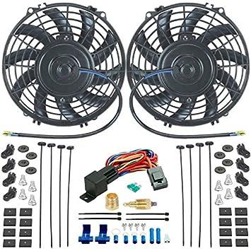 """American V Dual 9 pulgadas ventiladores de refrigeración radiador eléctrico y 3/8 """""""