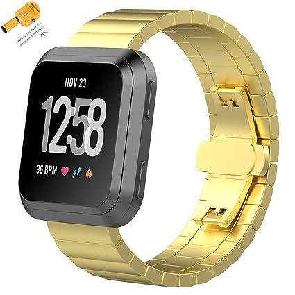 Amazon.com: Besteck para Fitbit Versa bandas acero ...