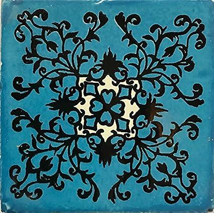 Amazon.com: Juego de 90 piezas de azulejos de talavera ...