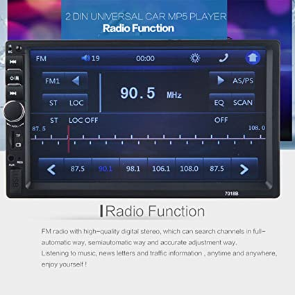 7 inch LCD Touch Screen Car Radio Player,Maso 2 Din Bluetooth V2 0