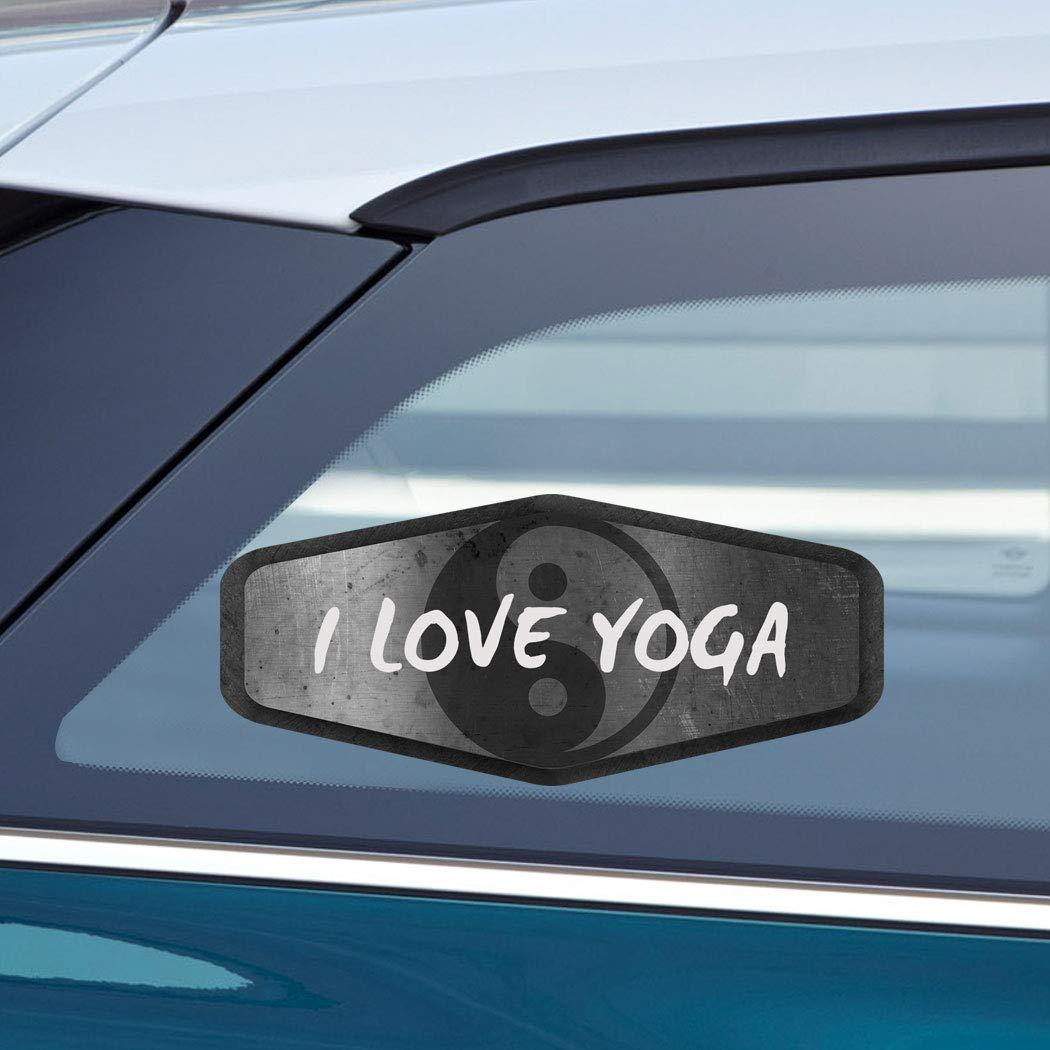 Amazon.com: Makoroni - I LOVE YOGA Yoga Meditation Zen Car ...