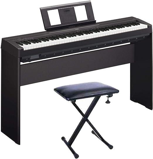 YAMAHA P45 Piano Digital + Soporte L85A + Banqueta ...