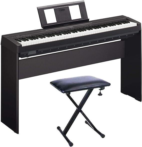 YAMAHA P45 Piano Digital + Soporte L85A + Banqueta: Amazon.es ...